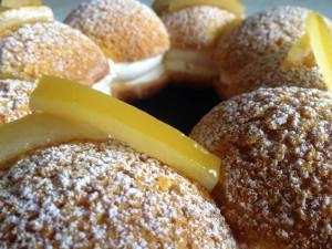 La crème allégée au citron avec citrons confits.